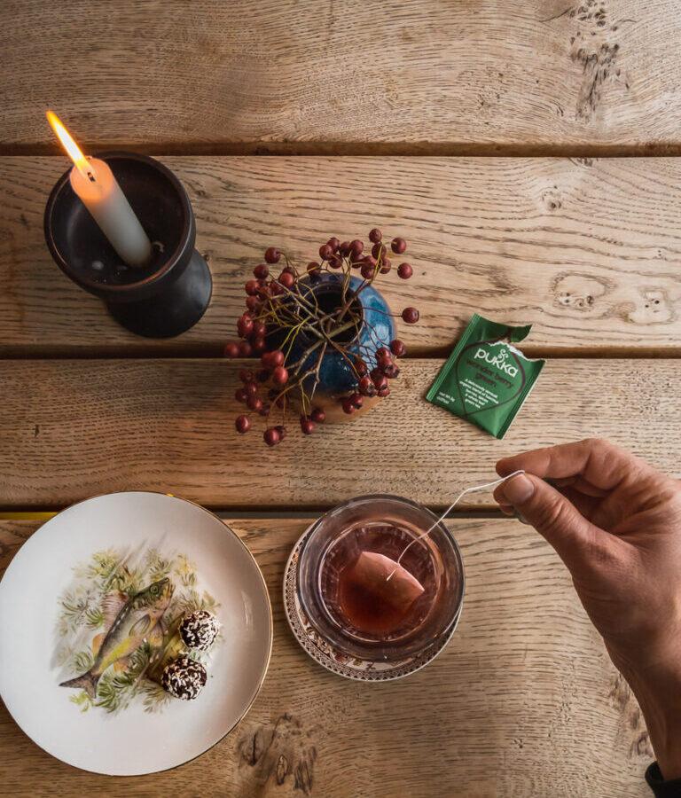 Teatime at Traktørstedet Vestamager.